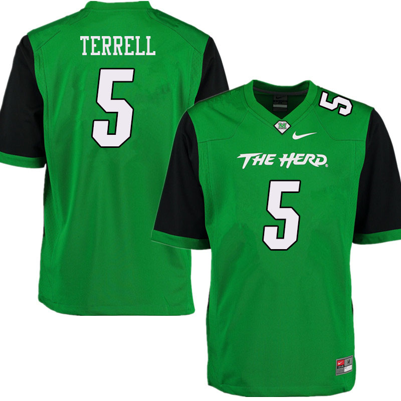Men #5 Ty Terrell Marshall Thundering Herd College Football Jerseys Sale-Green